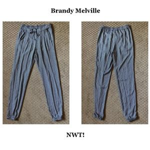 Brandy Melville Daisy Jogger Pants - OS - NWT!